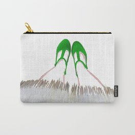 Small Green Shoes Carry-All Pouch