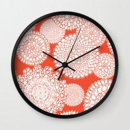 Delightful Doilies - Saffron Wall Clock