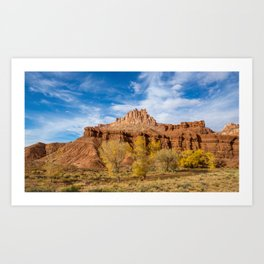 City on a Hill - Capitol Reef National Park Art Print