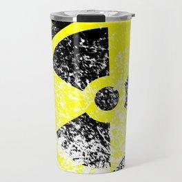 Radioactive Grunge Sign Travel Mug