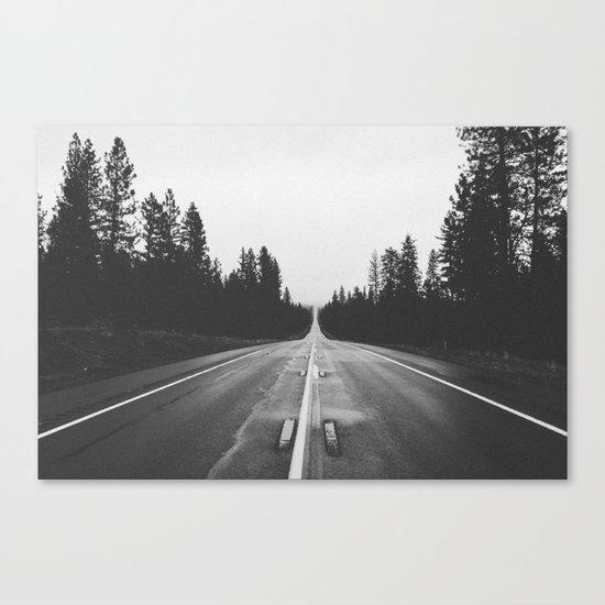 Grey road Canvas Print