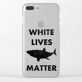 White Shark Lives Matter Clear iPhone Case