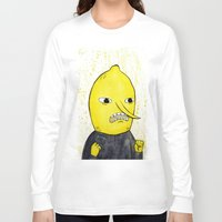 lemongrab Long Sleeve T-shirts featuring Lemongrab is acceptabbbbbbbble.  by Naomi Hodgson