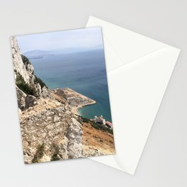 Beautiful Gibraltar rock view to Morokko in summer Stationery Cards