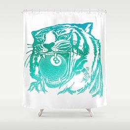 8 Ball Tiger Shower Curtain