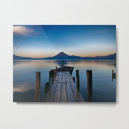 The Dock Sunset (Color) Metal Print