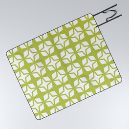 Mid Century Modern Star Pattern Chartreuse 552 Picnic Blanket