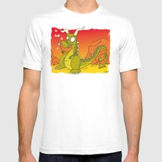 Dragon Mens Fitted Tee MEDIUM White