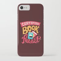 risa rodil iPhone & iPod Cases featuring Certified Book Addict by Risa Rodil