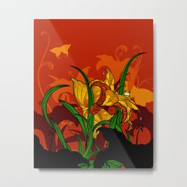 Jungle Lilies Metal Print