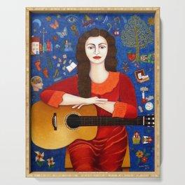 "Violeta Parra - ""Thanks to Life "" Serving Tray"