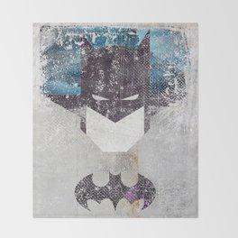 Bat grunge superhero Throw Blanket