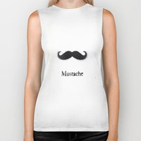 mustache Biker Tanks featuring Mustache by Connor Resnick