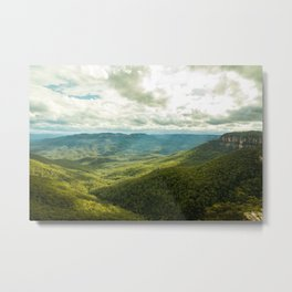 Sun Streams- Blue Mountains Metal Print