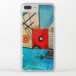 Cat, Art & Ink Clear iPhone Case