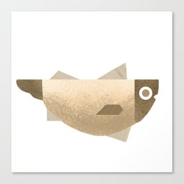 Beige fish Canvas Print