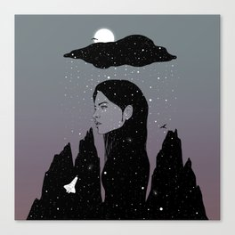 If My Dark Cloud Were Full of Stars (I'd Let It Hang Over Me) Canvas Print