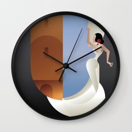 Art Deco styled Spain Flamenco dancer Wall Clock