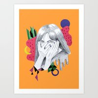 bjork Art Prints featuring Bjork by Shoko Yanagisawa