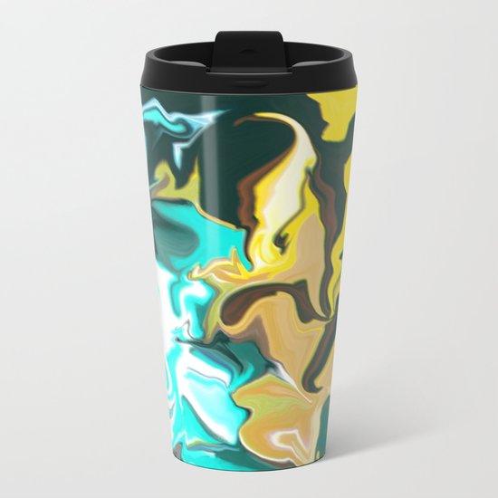 Abstract Pattern Metal Travel Mug