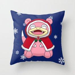 Wintertime Derp Throw Pillow