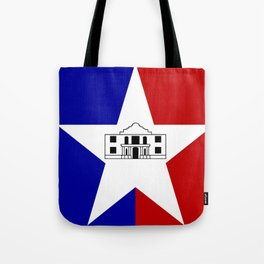 American cities-  Flag of San antonio Tote Bag