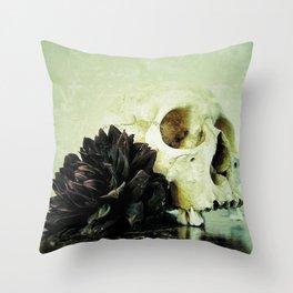 Vanitas Black Dahlia Throw Pillow
