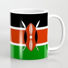 National flag of Kenya - Authentic version, to scale and color Coffee Mug