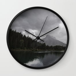 Landscape Montana Lake and Mountains Wall Clock
