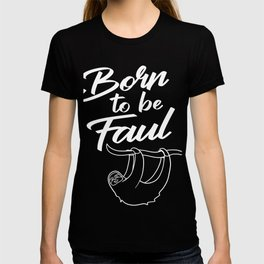 Sloth Lazy Animal Sleepy Cool Funny Trend Gift T-shirt