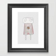 Robot superhero Framed Art Print