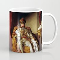 parks and recreation Mugs featuring Nick Offerman Is KING!  |  Ron Swanson  |  Parks and Recreation by Silvio Ledbetter