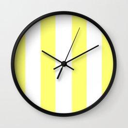 Sunshine Stripes - Fresh Yellow Wall Clock