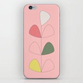 Vintage Leaves pink iPhone Skin