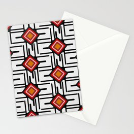 Networks and diamonds Stationery Cards