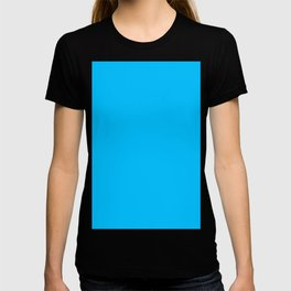 color deep sky blue T-shirt