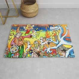 Dragons & Dungeons Wizard Fight Rug