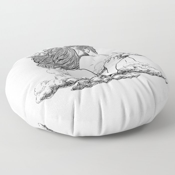 Above the clouds. Floor Pillow