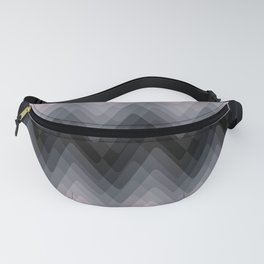 Zigzag. Peach, grey, black Ombre. Fanny Pack
