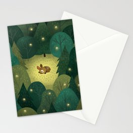Enchanted Forest Baby Fawn Stationery Cards