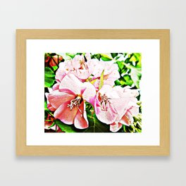 ISLAND FLOWER PAINTINGS TOGETHER AS A GROUP Framed Art Print