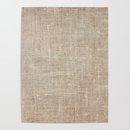 Len Sack Fabric Texture Poster