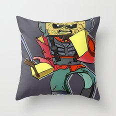 Eddie the Starship Trooper - Minecraft Avatar Throw Pillow