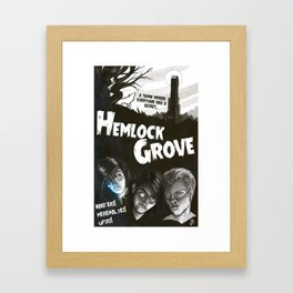 Hemlock Grove Vintage Poster Framed Art Print
