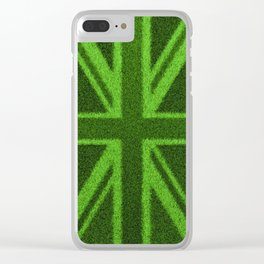 Grass Britain / 3D render of British flag grown from grass Clear iPhone Case