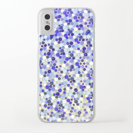 Blue disks Clear iPhone Case