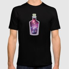 Cosmos Black LARGE Mens Fitted Tee