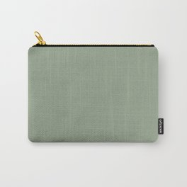Dark Pastel Sage Green Solid Color Parable to Valspar Irish Paddock 5006-4A Carry-All Pouch