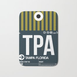 TPA Tampa Luggage Tag 2 Bath Mat