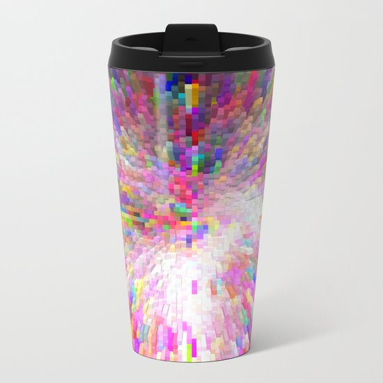 Color Burst Metal Travel Mug
